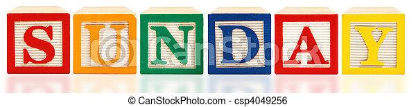 Alphabet Blocks Sunday - csp4049256