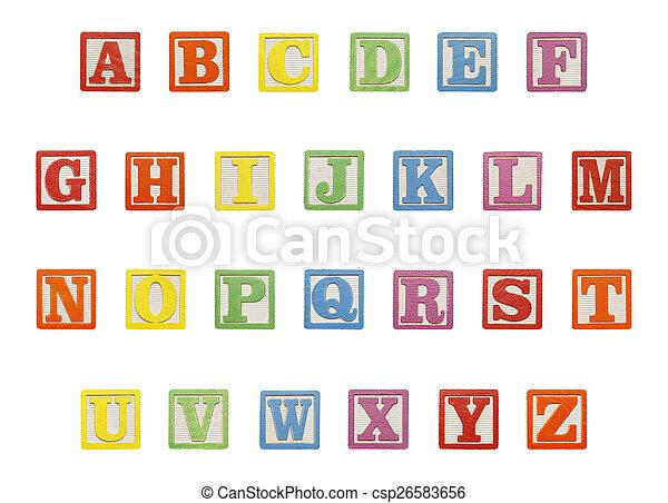 Alphabet Blocks Top - csp26583656