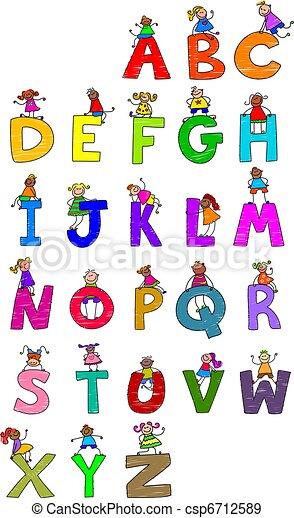 Alphabet Children - csp6712589
