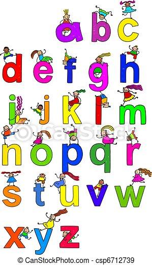 Alphabet Children - csp6712739
