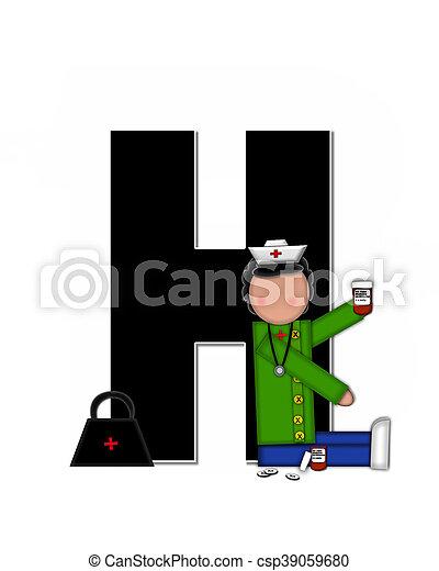 Alphabet Children Nursing Career H - csp39059680