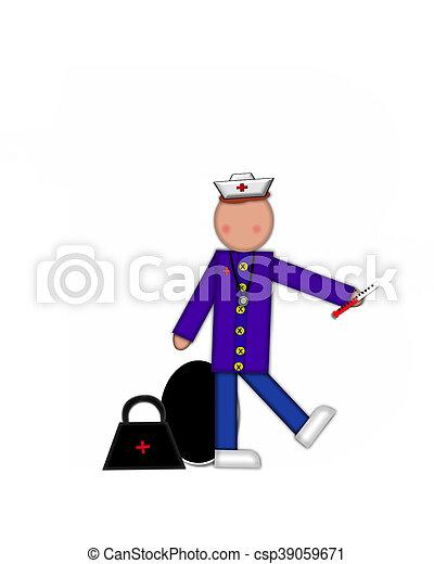 Alphabet Children Nursing Career Period - csp39059671