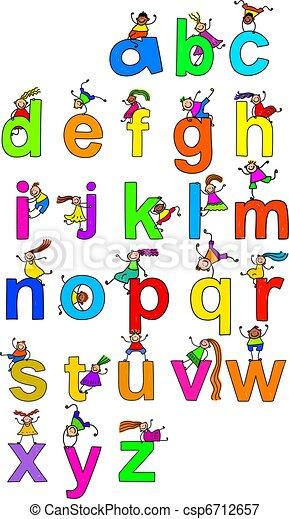 Alphabet Children - csp6712657