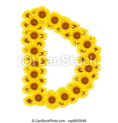 alphabet D , sunflower  - csp8003049