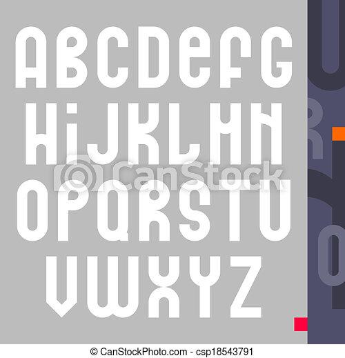 alphabet design - csp18543791