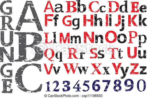 alphabet design. vector - csp11198550