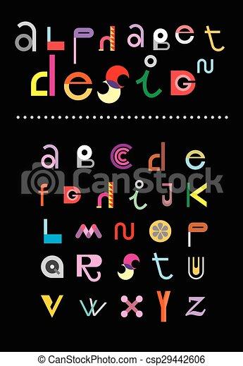 Alphabet Design - csp29442606