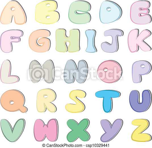 Alphabet Colorful And Cute Alphabet Letters