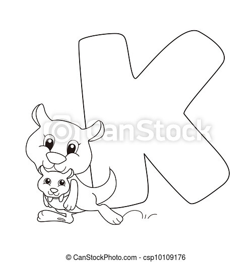 Alphabet, färbung, kinder Vektoren Illustration - Suche Clipart ...