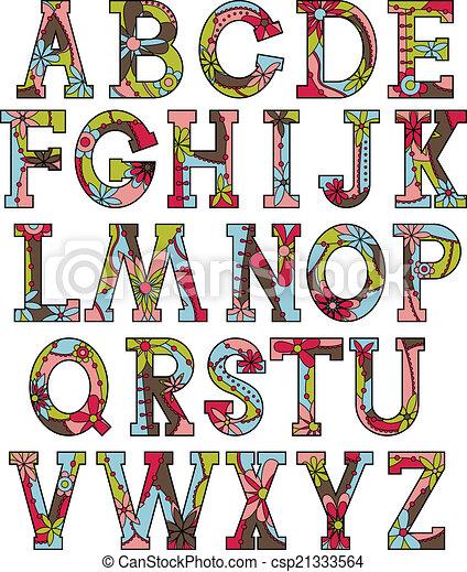 Alphabet, farben, weihnachten. Alphabet, farben, vektor,... Clipart ...