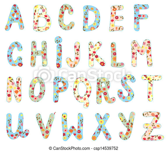 Alphabet floral set cute design alphabet floral set cute design csp14539752 thecheapjerseys Gallery