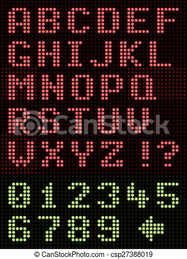 Alphabet Font LED Display - csp27388019