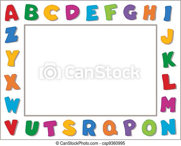 Alphabet Frame - csp9360995