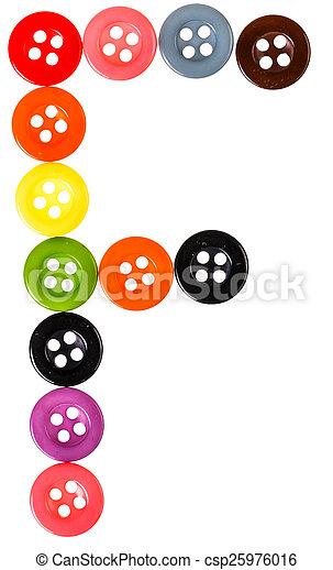 alphabet from button - csp25976016