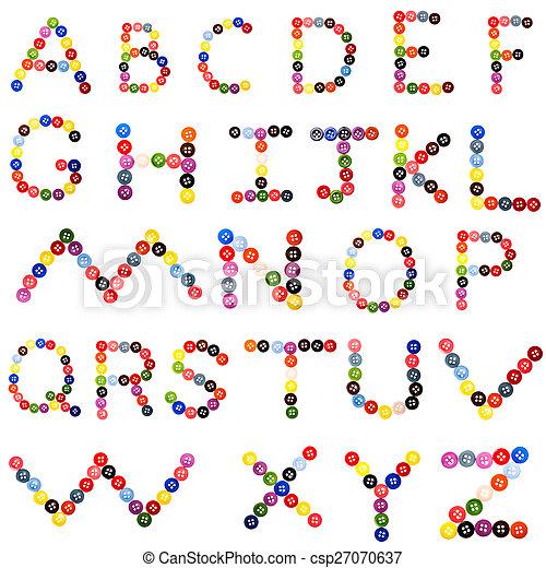 alphabet from button - csp27070637
