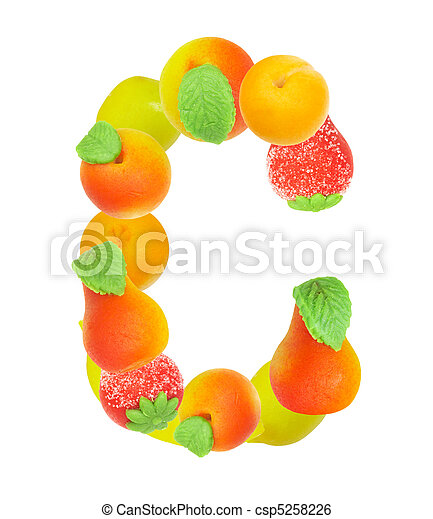 alphabet from fruit, the letter C - csp5258226