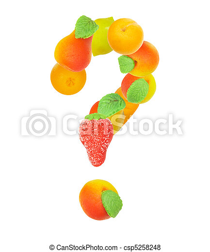 alphabet from fruit, the sign - ? - csp5258248