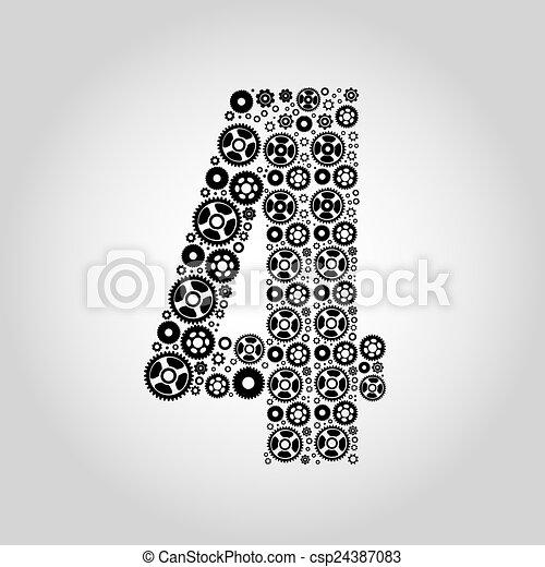 Alphabet - Gear-number 4 - csp24387083