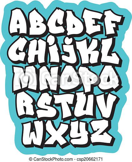 Alphabet Griffonnage Vecteur Graffiti Comique Police Dessin