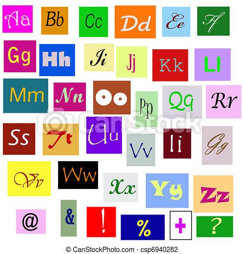 Alphabet - csp6940282