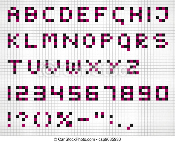 Alphabet in squares - csp9035930