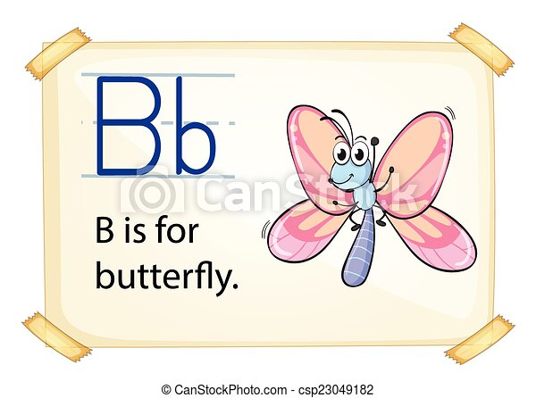 Alphabet letter b literacy card showing the letter b with example alphabet letter b csp23049182 altavistaventures Image collections