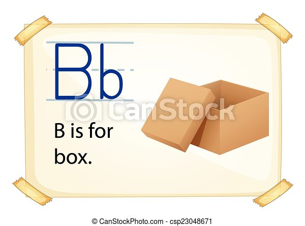 Alphabet letter b literacy card showing the letter b with example alphabet letter b csp23048671 altavistaventures Image collections