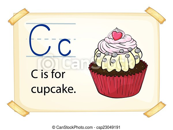 Alphabet letter c literacy card showing the letter c with example alphabet letter c csp23049191 altavistaventures Image collections