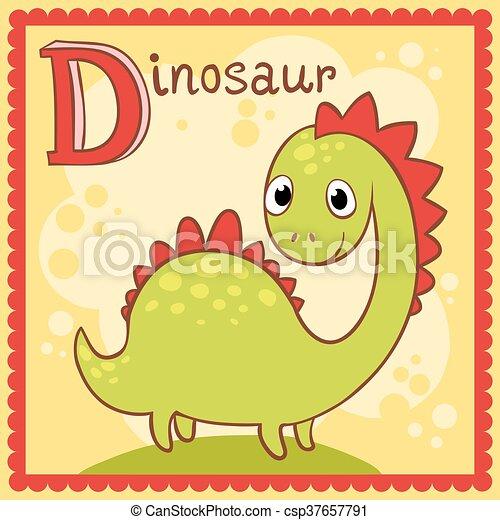 alphabet letter d illustrated alphabet letter d and dinosaur animals