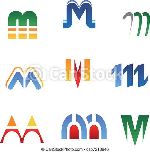 Alphabet letter M - csp7213946