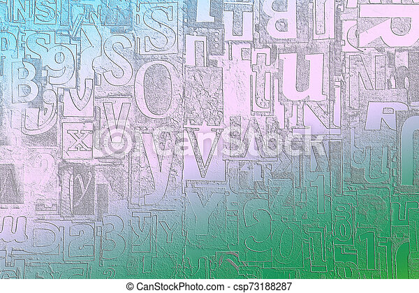 Alphabet, letters and numbers as background - csp73188287