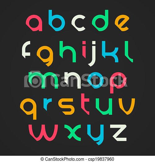 Alphabet letters - csp19837960