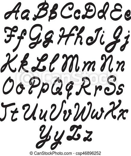alphabet letters - csp46896252