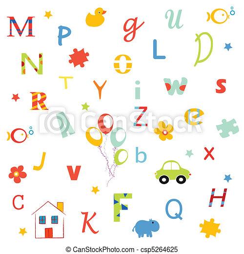 Alphabet, letters  - csp5264625