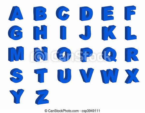 Alphabet letters - csp3949111