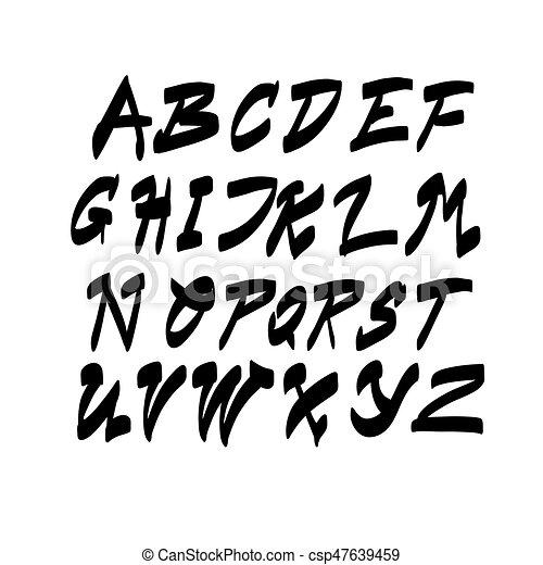 Alphabet Letters Collection Text Lettering Set - csp47639459