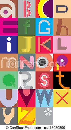 Alphabet letters - csp15080890