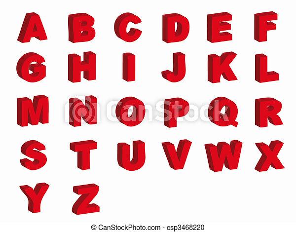 Alphabet letters - csp3468220