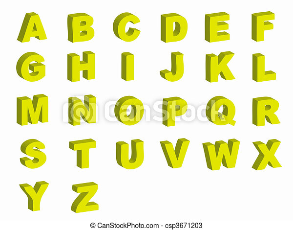 Alphabet letters - csp3671203