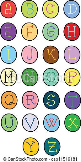 alphabet letters - csp11519181