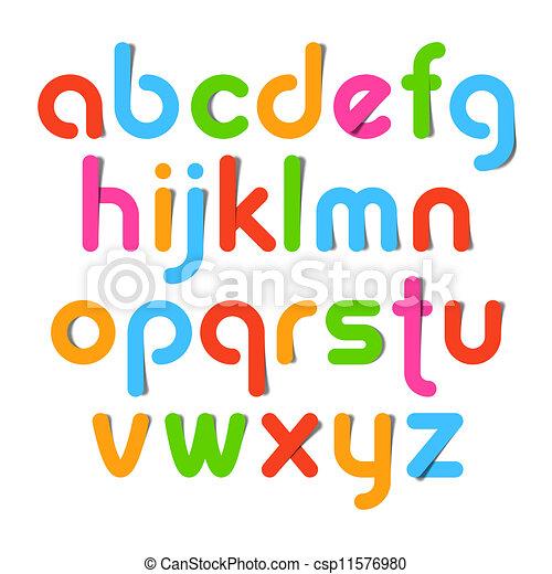 Alphabet letters - csp11576980