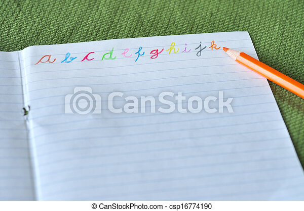 Alphabet letters in various colors - csp16774190