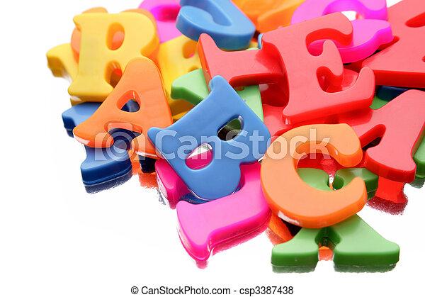 Alphabet letters    - csp3387438