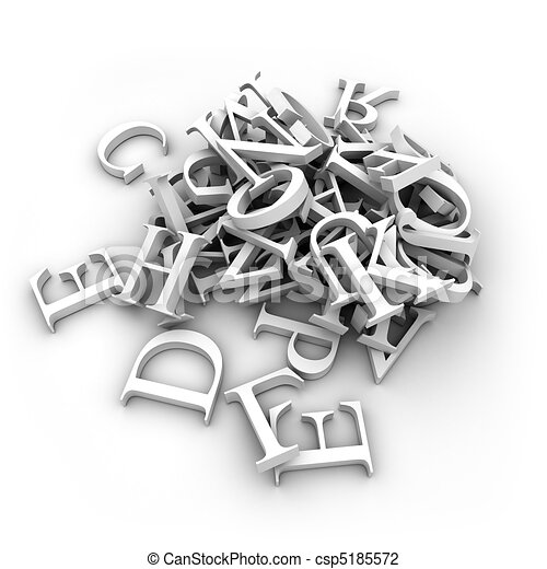 Alphabet letters poured in a heap - csp5185572