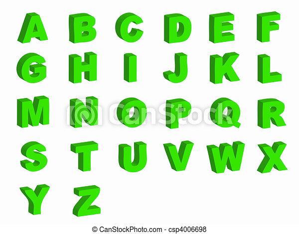 Alphabet letters - csp4006698