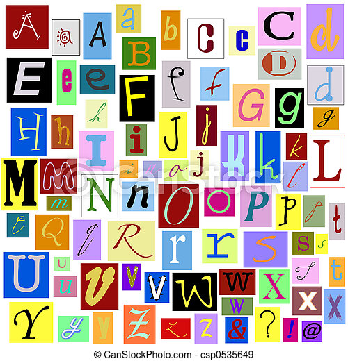 Alphabet Letters Magazine Isolated So You Can Make