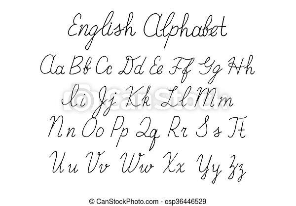 Alphabet Letters Uppercase Lowercase Elegant Calligraphy Letters