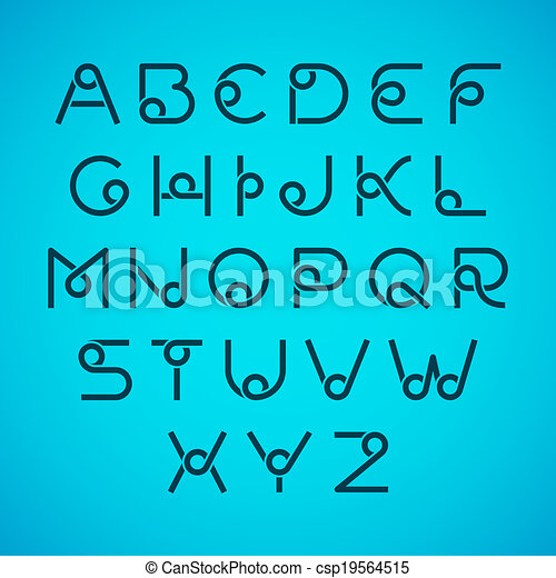 Alphabet letters - csp19564515