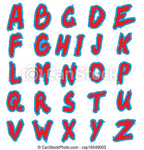 Alphabet letters - csp16549003