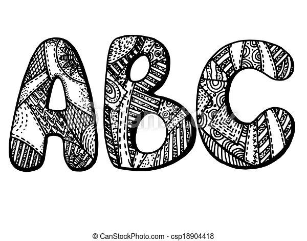 Alphabet Artistique alphabet, lettres. lettres, graphique, alphabet, image, stylisé